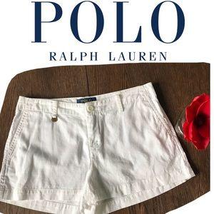 2/$30 Polo Ralph Lauren White Chino Shorts Size 14